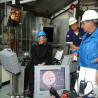 Tour, given by BP corporate officials to Secretary Gale Norton and Minerals Management Service Director Johnnie Burton, of the world's largest offshore oil platform, near Ingleside, Texas, used to tap Gulf of Mexico oil and natural gas reserves