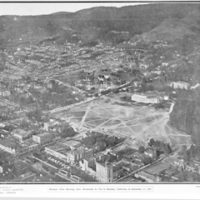Aerial view of North Berkeley and UC Berkeley after September 17, 1923 fire. Copy from Berkeley Daily Gazette December 2, 1988. Copyright 1923 George E. Russell. XBB8812-11271 -  Photographer: Berkeley Daily Gazette